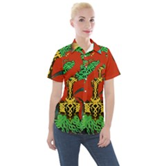 Ragnarok Dragon Monster Women s Short Sleeve Pocket Shirt