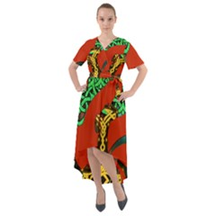 Ragnarok Dragon Monster Front Wrap High Low Dress