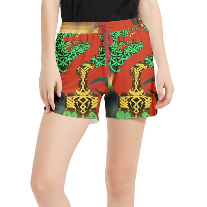 Ragnarok Dragon Monster Runner Shorts