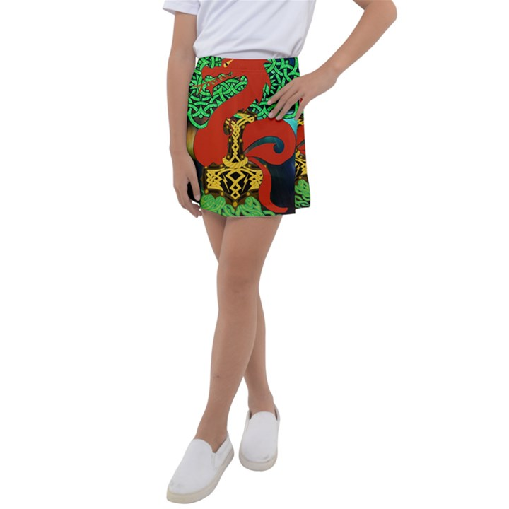 Ragnarok Dragon Monster Kids  Tennis Skirt