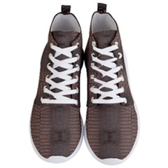 Brown Alligator Leather Skin Men s Lightweight High Top Sneakers by LoolyElzayat