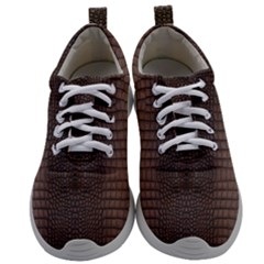 Brown Alligator Leather Skin Mens Athletic Shoes