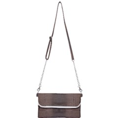 Brown Alligator Leather Skin Mini Crossbody Handbag by LoolyElzayat
