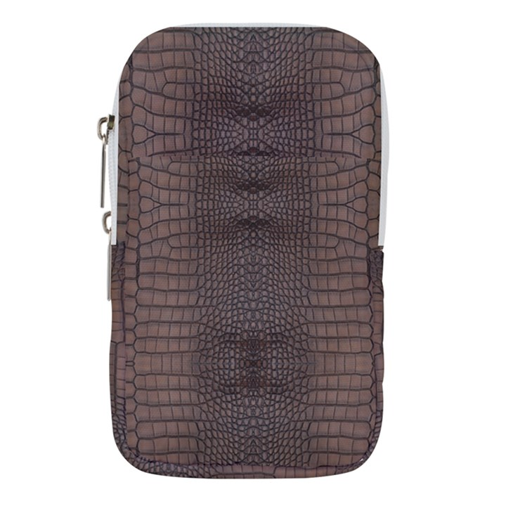 Brown Alligator Leather Skin Waist Pouch (Large)