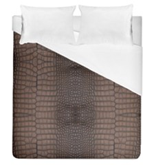 Brown Alligator Leather Skin Duvet Cover (queen Size) by LoolyElzayat