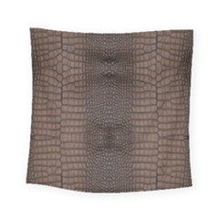 Brown Alligator Leather Skin Square Tapestry (small) by LoolyElzayat