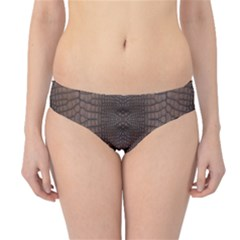 Brown Alligator Leather Skin Hipster Bikini Bottoms by LoolyElzayat