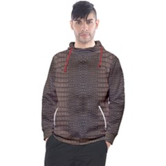 Brown Alligator Leather Skin Men s Pullover Hoodie by LoolyElzayat