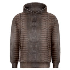 Brown Alligator Leather Skin Men s Overhead Hoodie by LoolyElzayat