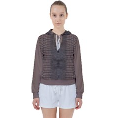 Brown Alligator Leather Skin Women s Tie Up Sweat by LoolyElzayat