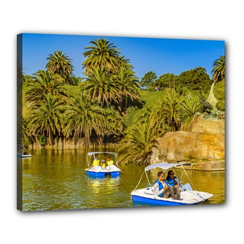 Parque Rodo Park, Montevideo, Uruguay Canvas 20  X 16  (stretched) by dflcprintsclothing
