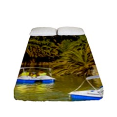 Parque Rodo Park, Montevideo, Uruguay Fitted Sheet (full/ Double Size) by dflcprintsclothing