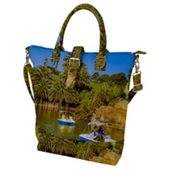 Parque Rodo Park, Montevideo, Uruguay Buckle Top Tote Bag by dflcprintsclothing