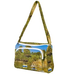 Parque Rodo Park, Montevideo, Uruguay Front Pocket Crossbody Bag by dflcprintsclothing