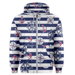 Seamless-marine-pattern Men s Zipper Hoodie by BangZart