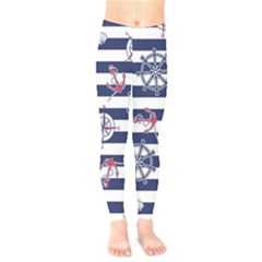 Seamless-marine-pattern Kids  Leggings