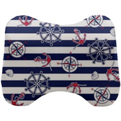 Seamless-marine-pattern Head Support Cushion