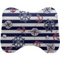 Seamless-marine-pattern Head Support Cushion View1