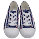 Seamless-marine-pattern Kids  Low Top Canvas Sneakers View1
