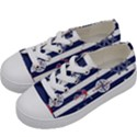 Seamless-marine-pattern Kids  Low Top Canvas Sneakers View2