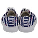 Seamless-marine-pattern Kids  Low Top Canvas Sneakers View4
