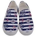 Seamless-marine-pattern Men s Canvas Slip Ons View1