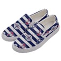 Seamless-marine-pattern Men s Canvas Slip Ons View2