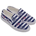 Seamless-marine-pattern Men s Canvas Slip Ons View3