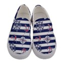 Seamless-marine-pattern Women s Canvas Slip Ons View1