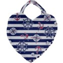 Seamless-marine-pattern Giant Heart Shaped Tote View1