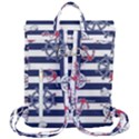 Seamless-marine-pattern Flap Top Backpack View3