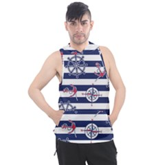 Seamless-marine-pattern Men s Sleeveless Hoodie by BangZart