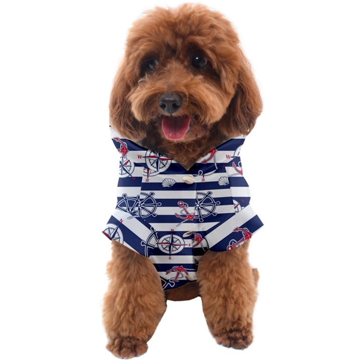 Seamless-marine-pattern Dog Coat