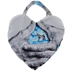 Hands Horse Hand Dream Giant Heart Shaped Tote