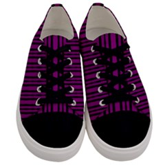 Tarija 016ix Purple Black Men s Low Top Canvas Sneakers