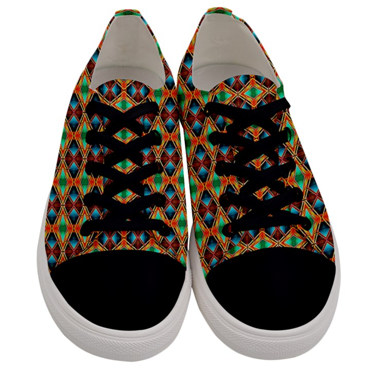 Eclectic  Men s Low Top Canvas Sneakers