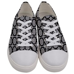 Darwin White Men s Low Top Canvas Sneakers