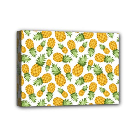Pineapples Mini Canvas 7  X 5  (stretched) by goljakoff