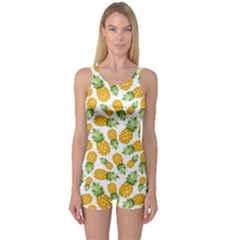 Pineapples One Piece Boyleg Swimsuit by goljakoff
