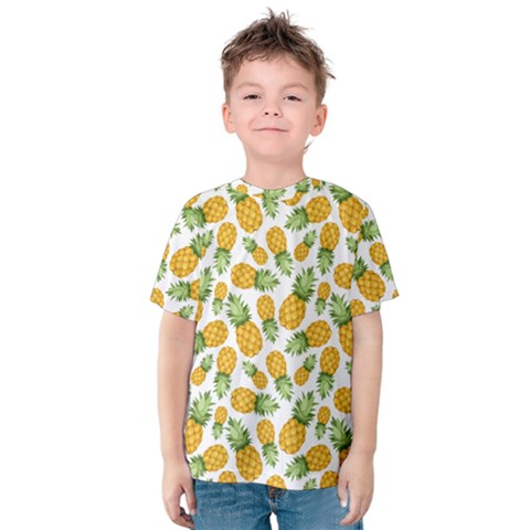 Pineapples Kids  Cotton Tee by goljakoff