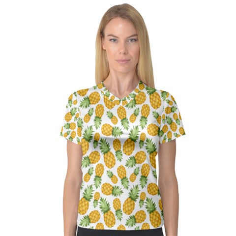 Pineapples V-neck Sport Mesh Tee by goljakoff