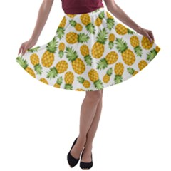 Pineapples A-line Skater Skirt by goljakoff