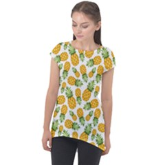 Pineapples Cap Sleeve High Low Top by goljakoff
