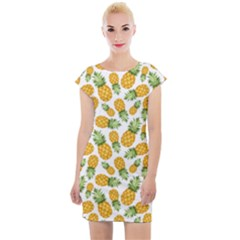 Pineapples Cap Sleeve Bodycon Dress by goljakoff
