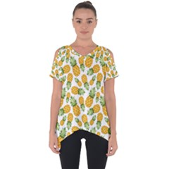 Pineapples Cut Out Side Drop Tee by goljakoff