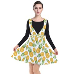 Pineapples Plunge Pinafore Dress by goljakoff