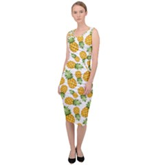Pineapples Sleeveless Pencil Dress by goljakoff