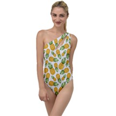 Pineapples To One Side Swimsuit by goljakoff