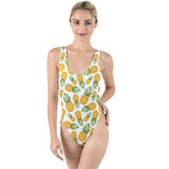 Pineapples High Leg Strappy Swimsuit by goljakoff