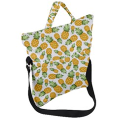 Pineapples Fold Over Handle Tote Bag by goljakoff